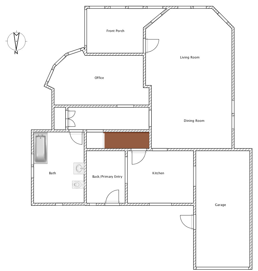 First Floor Plan - Before